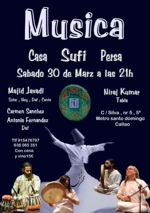 Música sufí Casa Persa