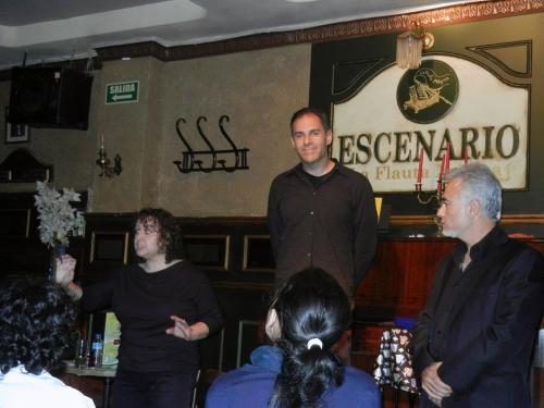 Julia Ruiz, Fernando Yuste y Carlos Hampton con sus Recetas de cuentos mágicos