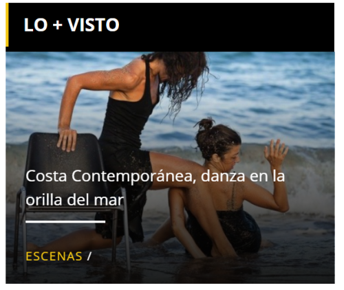 Costa Contemporánea, danza en la orilla del mar